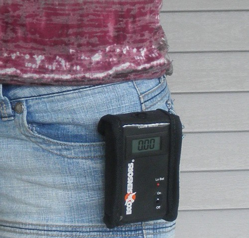 A-21ZX Ozone safety sensor on person
