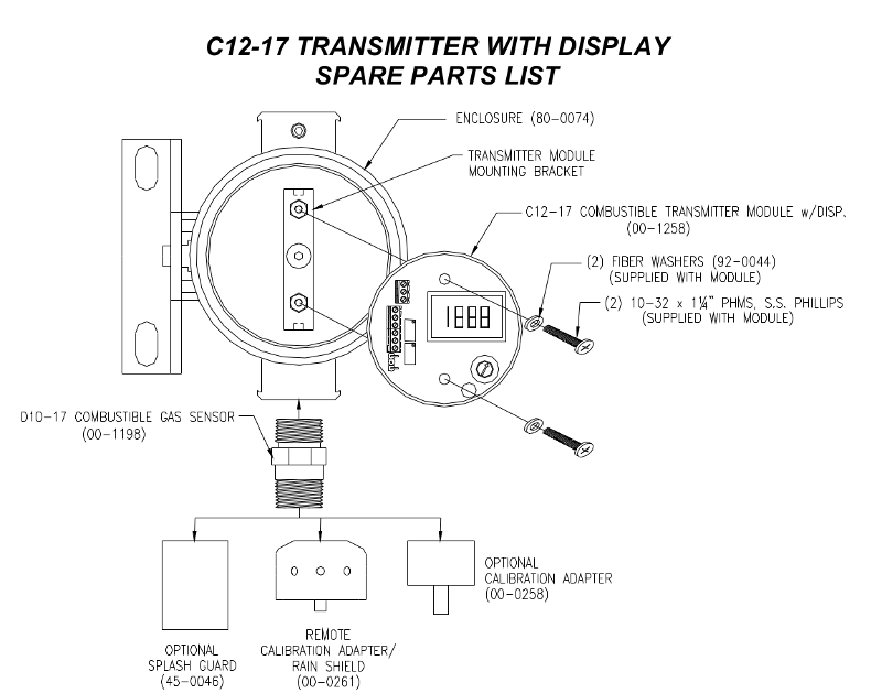C12-17 Spare Parts and Accessories Image (for display model)
