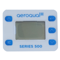 Display label for the portable Aeroqual units