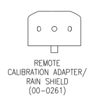 Remote Calibration Adapter/Rain Sheld for the C12-17