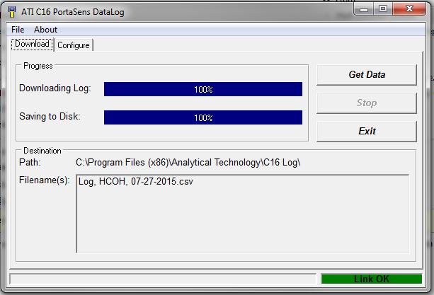 C-16 logged data