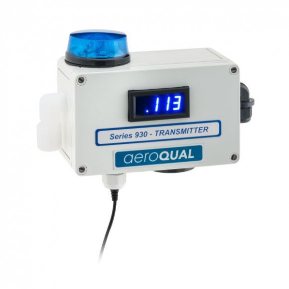 Aeroqual Series 930, shown with optional strobe and siren