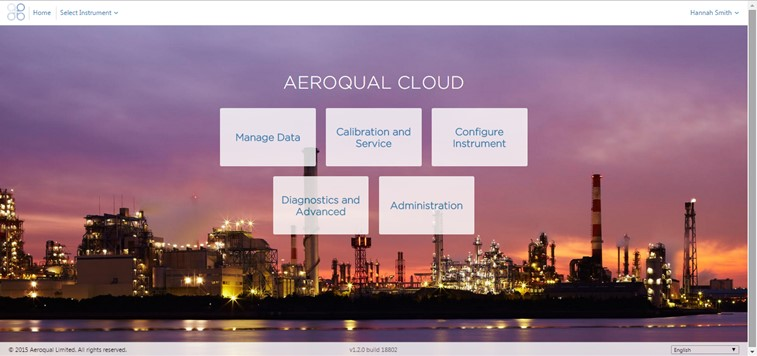 Aeroqual Cloud used to view and store data using the Dust Sentry