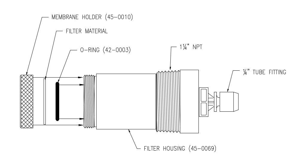 Optional Inlet Filter Assembly for the A21 sampling system