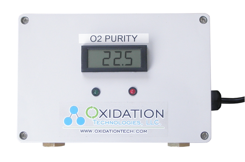 Oxygen Purity Meter that can measure 0-100% oxygen