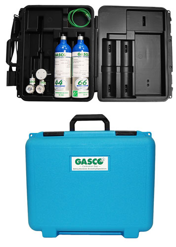 Calibration Kit comes with gas cylinder, zero air cylinder, regulator, handy carrying case & shoulder strap